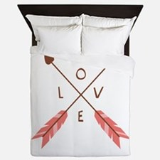 Love Heart Arrows Queen Duvet