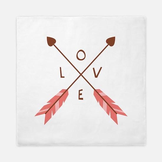 Love Heart Arrows Queen Duvet