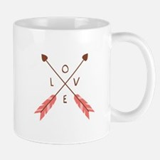 Love Heart Arrows Mugs