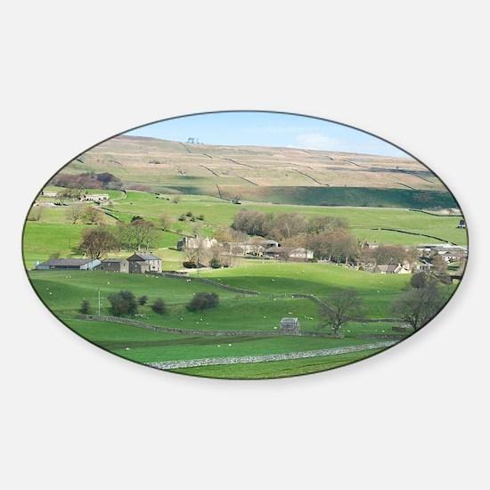 dales farming Sticker (Oval)