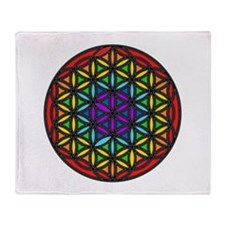 Flower of Life Chakra2 Throw Blanket
