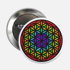 "Flower of Life Chakra2 2.25"" Button"