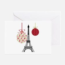 Merry Christmas Eiffel Tower Ornaments Greeting Ca