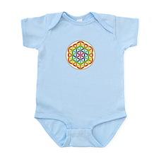 Flower of Life Chakra Infant Bodysuit