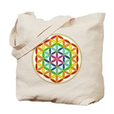 Flower of Life Chakra Tote Bag