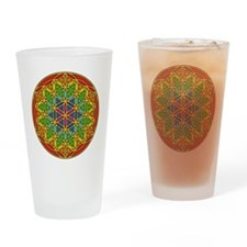Flower of Life Chakra1 Drinking Glass