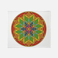 Flower of Life Chakra1 Throw Blanket