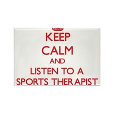 Keep Calm and Listen to a Sports arapist Magnets