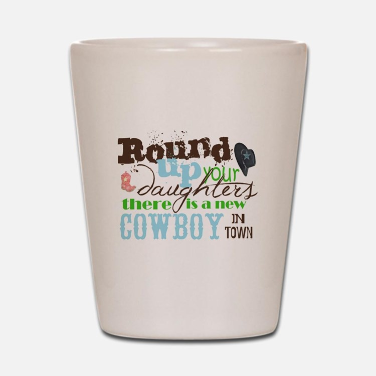 new cowboy Shot Glass