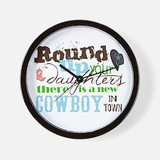 new cowboy Wall Clock