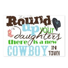 new cowboy Postcards (Package of 8)