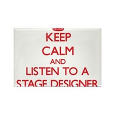 Keep Calm and Listen to a Stage Designer Magnets