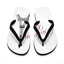 Birthday Girl Eiffel Tower Flip Flops