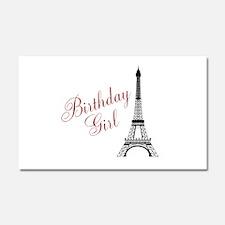 Birthday Girl Eiffel Tower Car Magnet 20 x 12