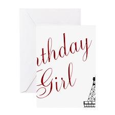 Birthday Girl Eiffel Tower Greeting Cards