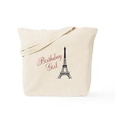 Birthday Girl Eiffel Tower Tote Bag