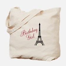 Birthday Girl Eiffel Tower Tote Bag