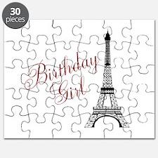 Birthday Girl Eiffel Tower Puzzle