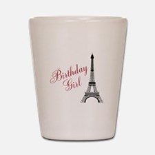 Birthday Girl Eiffel Tower Shot Glass