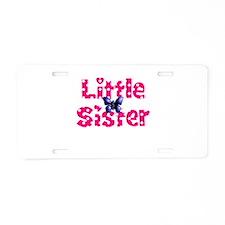 Little Sister Purple Butterfly Aluminum License Pl