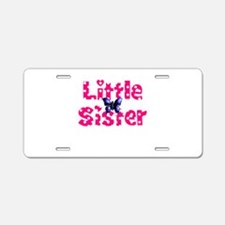 Little Sister Purple Butterfly Aluminum License Pl