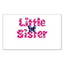 Little Sister Purple Butterfly Decal