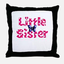 Little Sister Purple Butterfly Throw Pillow