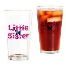Little Sister Purple Butterfly Drinking Glass