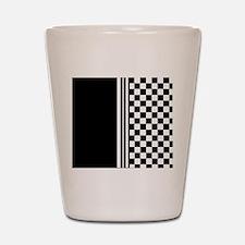 Stylish designer Stripes and checks Shot Glass