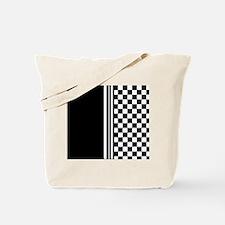 Stylish designer Stripes and checks Tote Bag