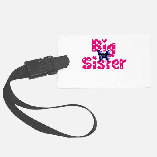 Big Sister Purple Butterfly Luggage Tag