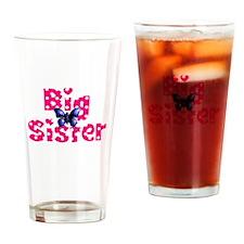 Big Sister Purple Butterfly Drinking Glass