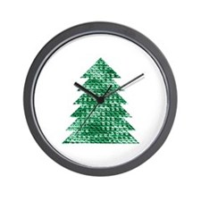 Beautiful Festive Crochet Christmas Tre Wall Clock