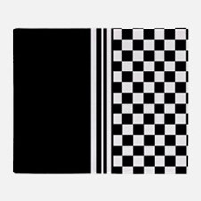 Stylish designer Stripes and checks Throw Blanket