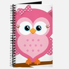 Pink Owl on a Branch Journal