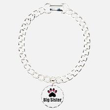 Big Sister Paw Print Bracelet