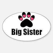 Big Sister Paw Print Decal