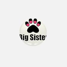Big Sister Paw Print Mini Button (10 pack)