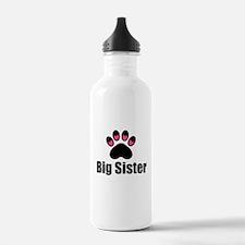 Big Sister Paw Print Water Bottle