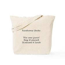 Fandoms Unite Tote Bag