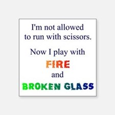 Fire And Broken Glass Sticker