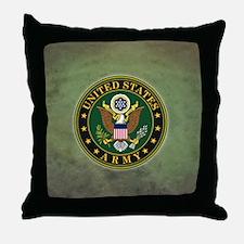 Army Seal Green Grunge Throw Pillow