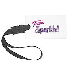 Pink Team Sparkle! Luggage Tag
