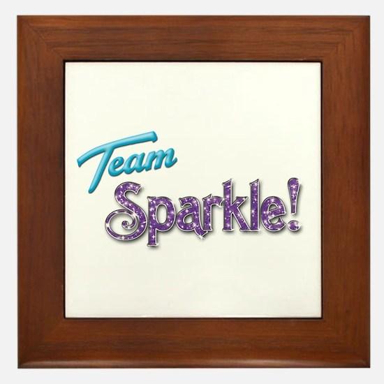 Blue Team Sparkle! Framed Tile