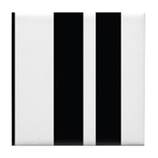 Stylish Black and white modern Tile Coaster