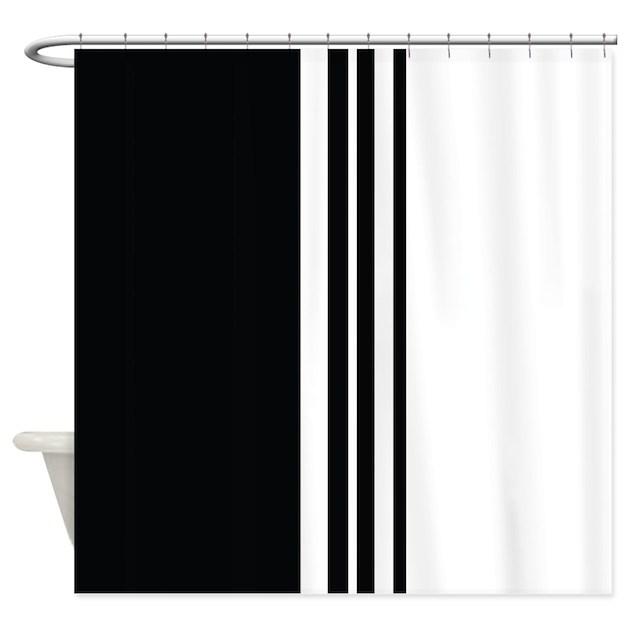 Stylish Black And White Modern Shower Curtain By Auslandgifts