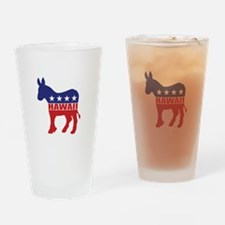 Hawaii Democrat Donkey Drinking Glass