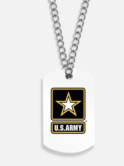 US Army Gold Star Logo Dog Tags