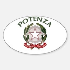 Potenza, Italy Oval Decal