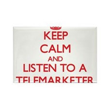 Keep Calm and Listen to a Telemarketer Magnets
